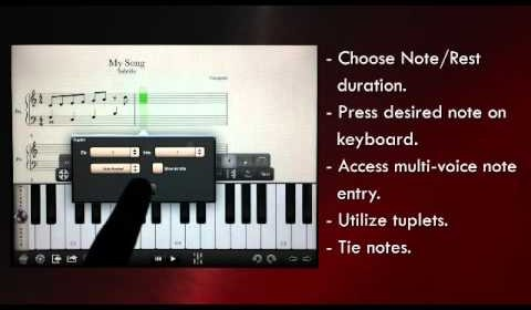 iPad 譜面作成アプリ「Notion」ピアノ鍵盤やギターフレット入力 MIDI/PDF印刷