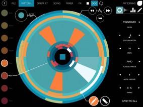 iPadアプリ 指のスワイプ操作のみで、ダイナミックなドラムパターンを作成「Patterning : ドラムマシンアプリ 」登場!